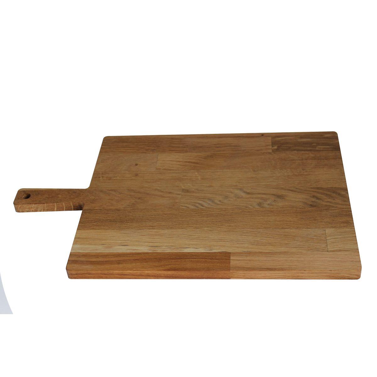 Planche à découper avec poignée chêne huilé 38 x 22,5 cm - Roger Orfevre