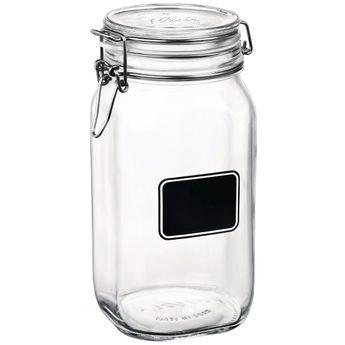 Achat en ligne Bocal de conservation en verre avec etiquette 150 cl - Bormioli