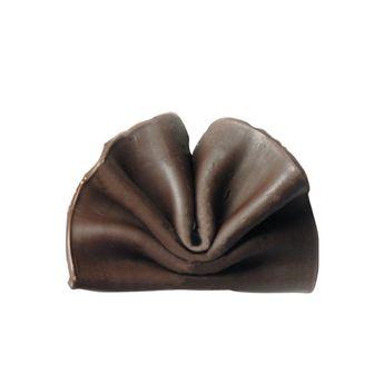 Achat en ligne Décor en chocolat : petits éventails en chocolat noir 50 gr