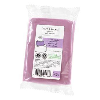Achat en ligne Pâte à sucre violette 250g sans huile de palme