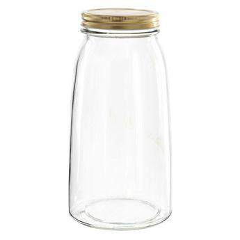 Achat en ligne Bocal en verre couvercle doré 2l - Borgonovo