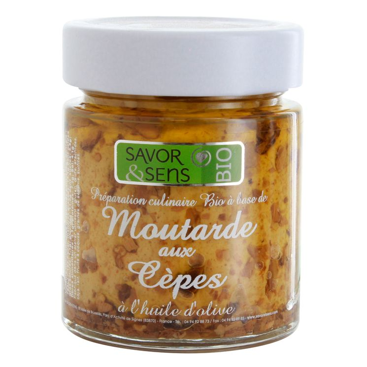 Moutarde bio cèpes 130g - Savor et Sens