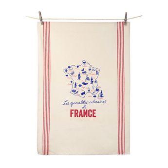 Achat en ligne Torchon Spécialités culinaires de France - Tissage de l´ouest