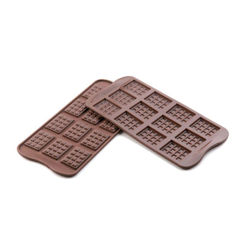 Moule à chocolats en silicone mini tablette - Silikomart