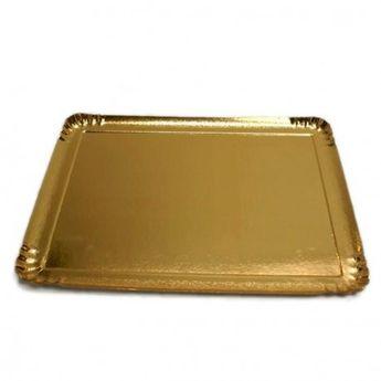 Achat en ligne 25 plateaux rectangulaires en carton dorés 19 x 28 cm - Patisdecor
