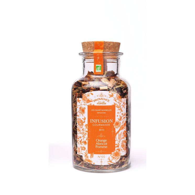 Infusion gourmande vrac orange/abricot/pomme 70gr - Provence d'Antan