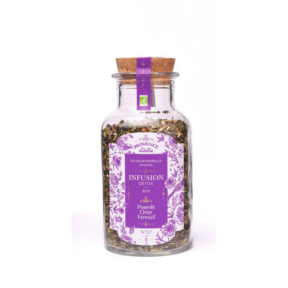 Infusion bio detox vrac pissenlit/ortie/fenouil 50gr - Provence d'Antan