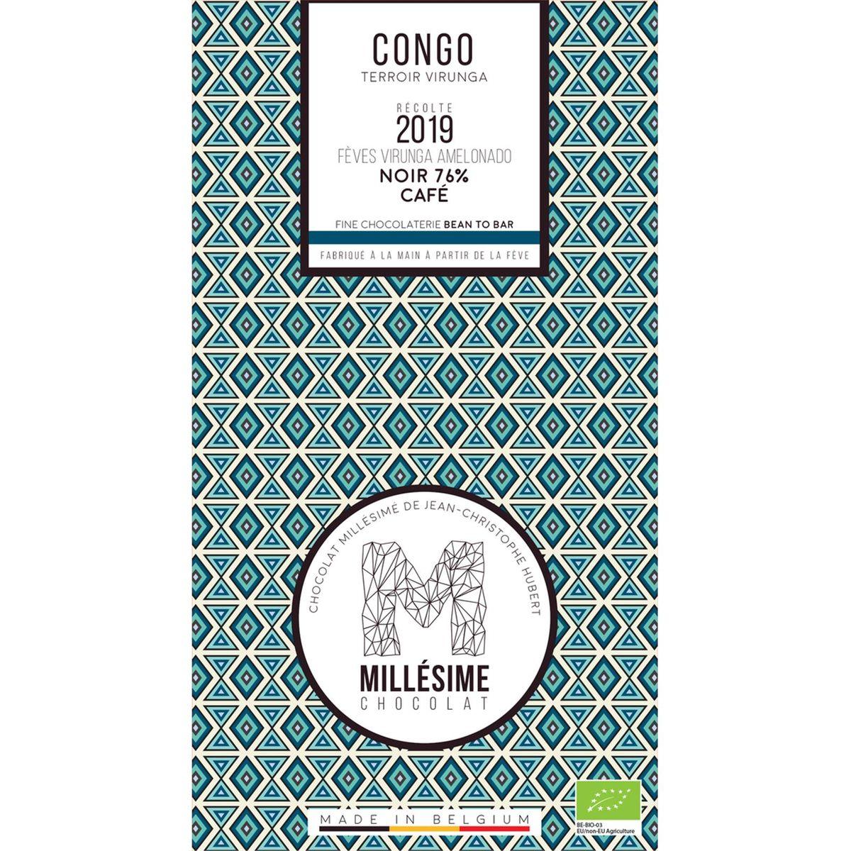 Chocolat Congo Noir 76% Café 70g - Millésime