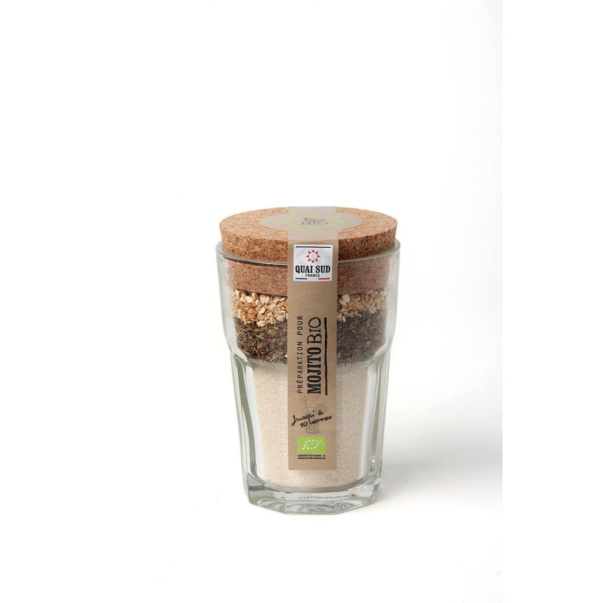 Mélange bio pour mojito en verre à mojito 180g - Quai Sud