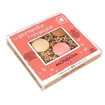 Achat en ligne Tablette de chocolat au lait aux biscuits et aux amandes 85g - Monbana