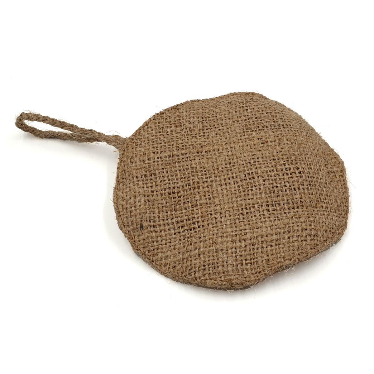 Eponge à vaisselle naturel en fibre de jute et coco - Cookut