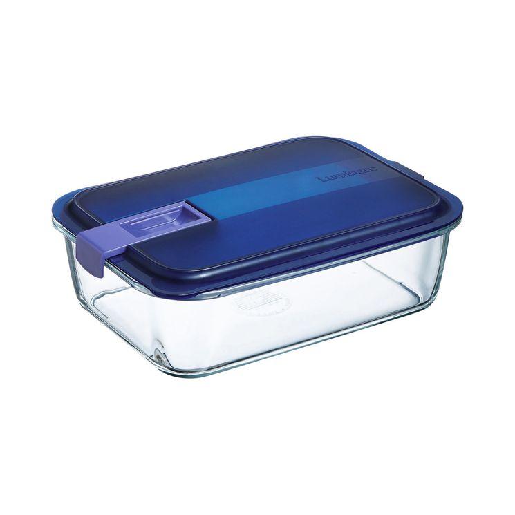 Boite hermetique Easy Box rectangulaire en verre 82cl 17.95x13.3x6.8cm - Luminarc