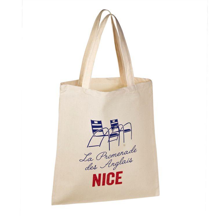 Totebag Nice promenade 100% coton - Tissage de L´Ouest