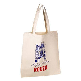 Achat en ligne Totebag Horloge de Rouen 100% coton - Tissage de L´Ouest