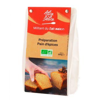 Achat en ligne Préparation pain d´épices bio 250 gr sans gluten - Alice Délice