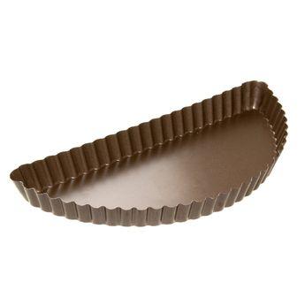 Achat en ligne Moule à demi tarte à bords cannelés en métal anti adhérent 4/6 parts 28 cm - Alice Délice
