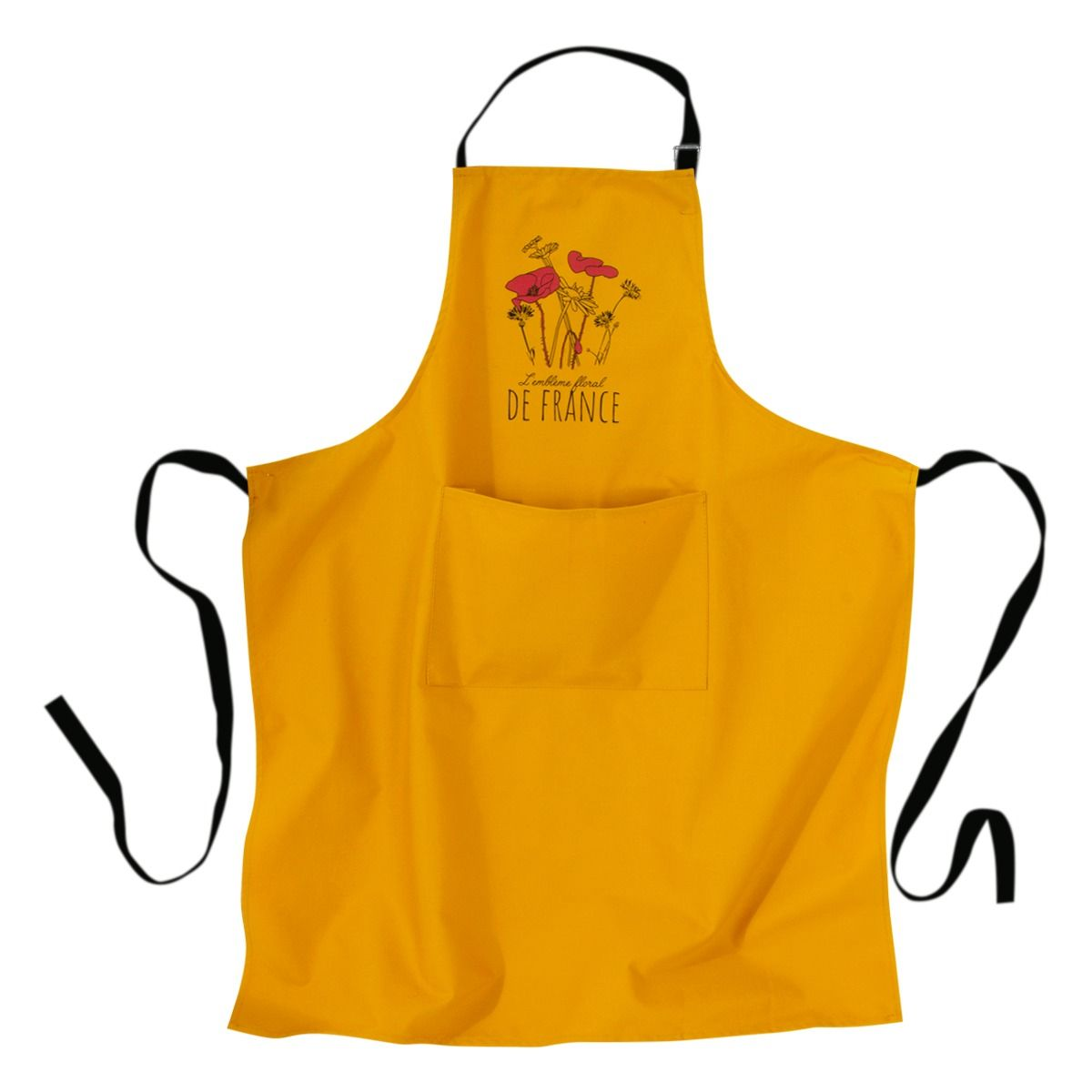 Tablier jaune Maddie emblème floral - Tissage de l´ouest