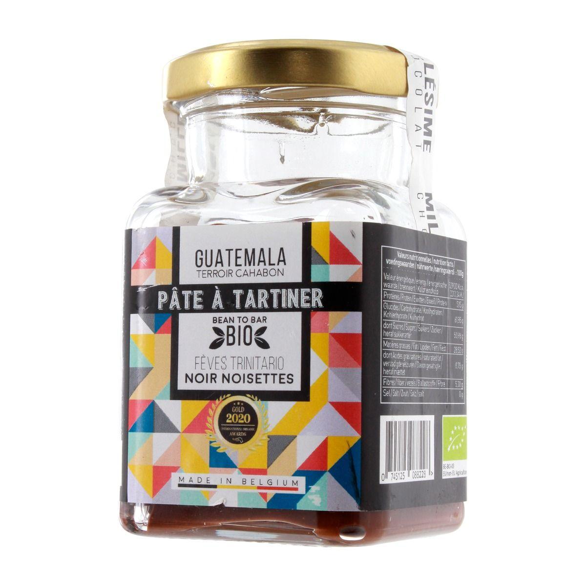 Pâte à tartiner Noisettes du Piémont et chocolat noir Guatemala 150g - Millésime