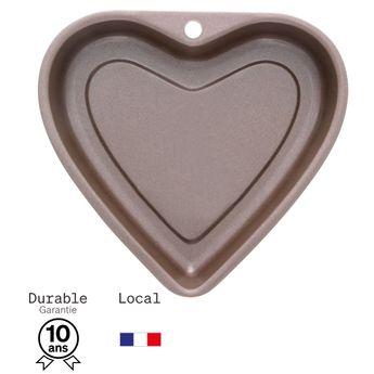 Achat en ligne Moule à gateau coeur en métal anti adhérent 6/8 parts 22.5 cm - Alice Délice