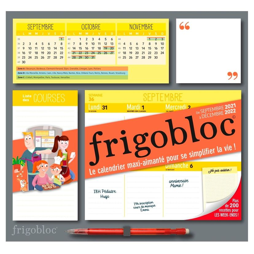 Frigobloc Calendrier Hebdo 2022 - Hachette