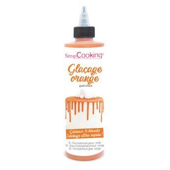 Achat en ligne Glaçage orange prêt à l´emploi pour gâteaux à étages et biscuits 130 gr - Scrapcooking