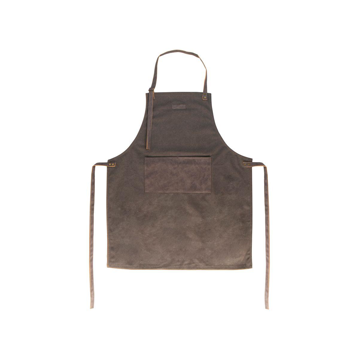 Tablier en toile 80x66.5cm marron - Gusta