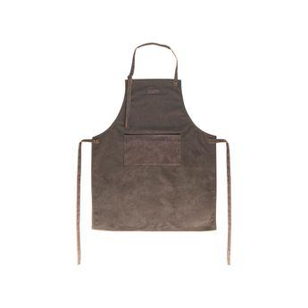 Achat en ligne Tablier en cuir 80x66.5cm marron - Gusta
