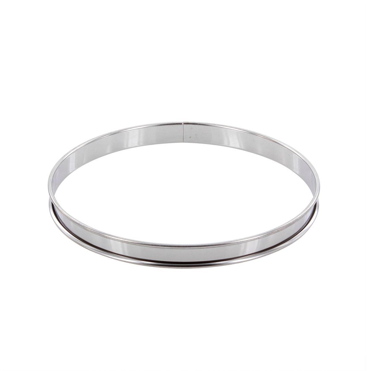 Cercle à tarte en inox 22 cm hauteur 2 cm - Alice Délice