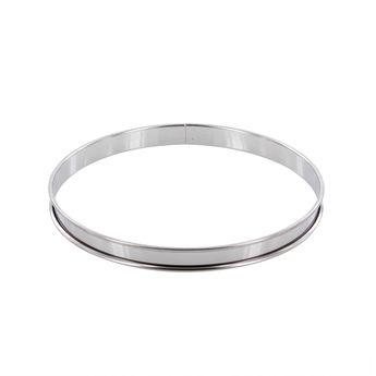 Achat en ligne Cercle à tarte en inox 22 cm hauteur 2 cm - Alice Délice