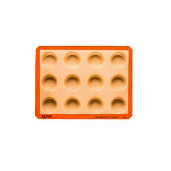 Achat en ligne Moule 12 muffins en silicone et fibre de verre 40 x 30 cm - Silpat