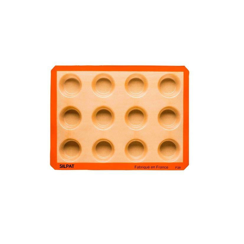 Moule 12 muffins en silicone et fibre de verre 40 x 30 cm - Silpat