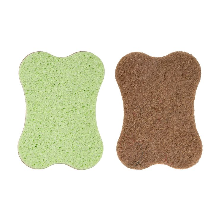 Grande éponge grattante sans rayure cellulose et sisal - Mr Eco