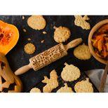 Rouleau à empreintes en bois Halloween effrayant 11 cm - Alice Délice