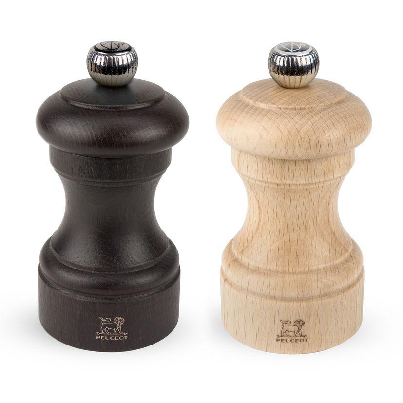 Duo moulin sel et poivre Bistro 10 cm en hêtre naturel - Peugeot