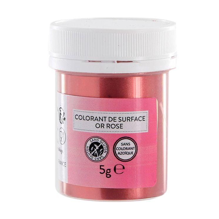 Colorant alimentaire de surface or rose en poudre 5g