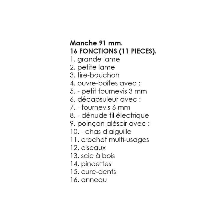 Couteau de poche huntsman rouge 91 mm 16 fonctions - Victorinox
