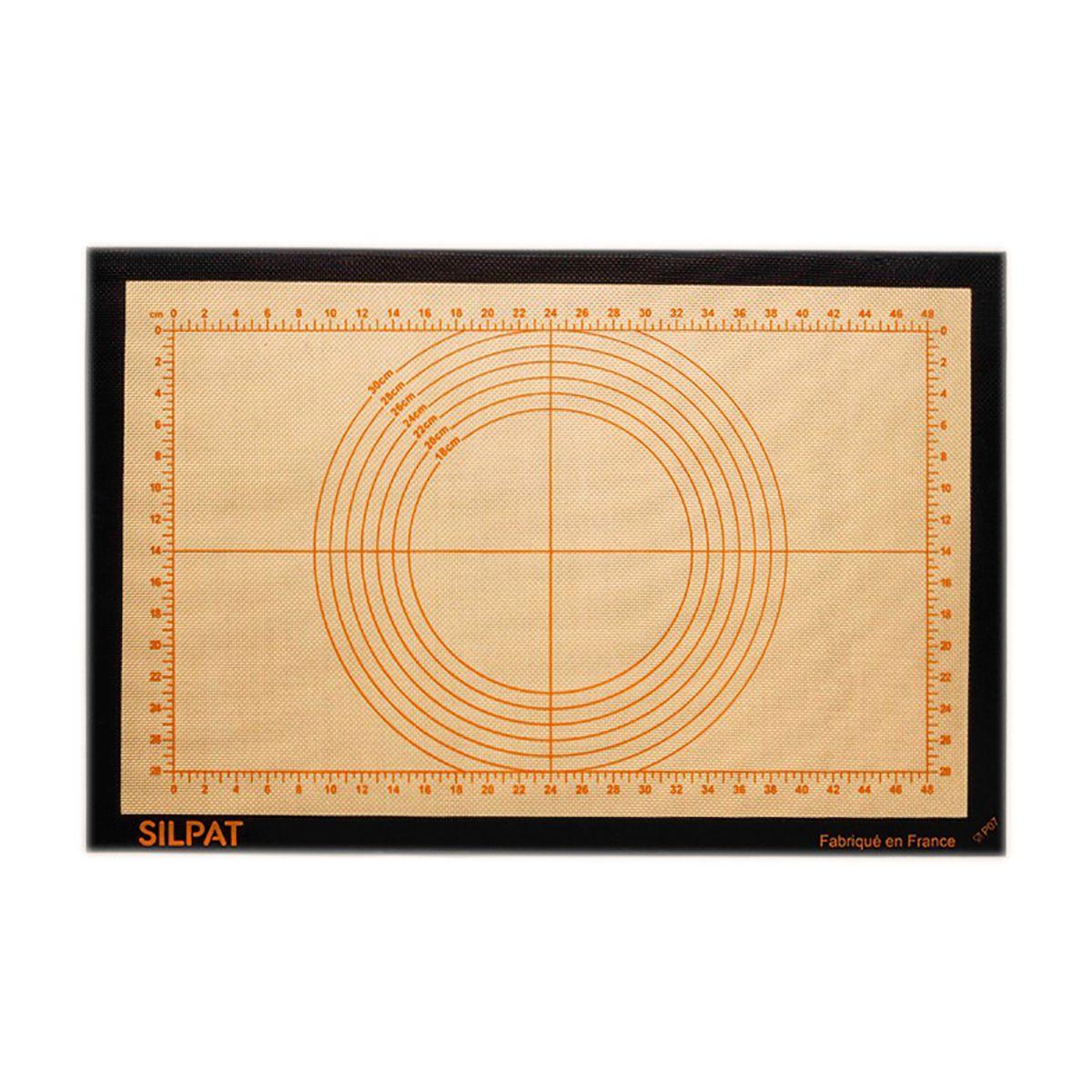 Toile pâtissière graduée 58,5 x 38,5 cm - Silpat
