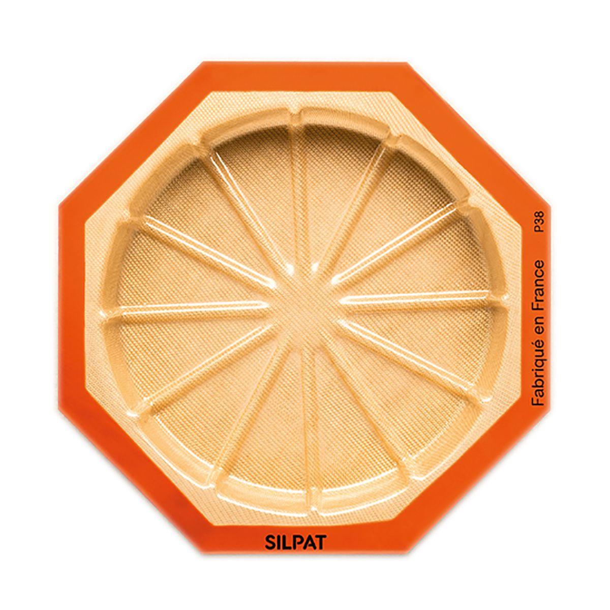 Moule rond 12 portions en silicone et fibre de verre 45 x 31 cm - Silpat