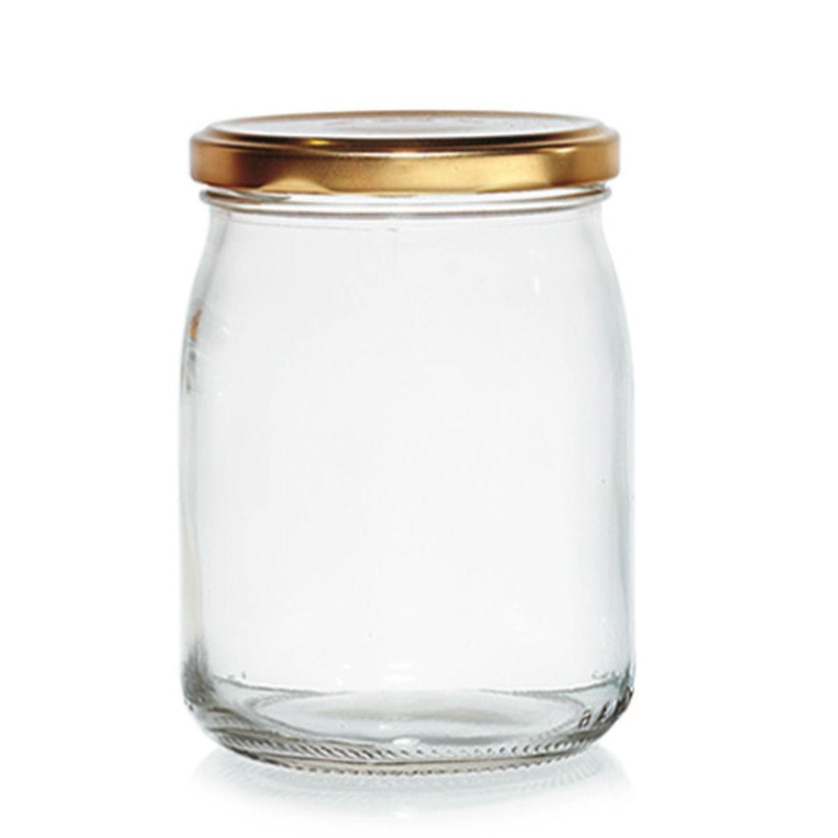 Bocal à confiture en verre avec couvercle doré 500 ml - Cerve