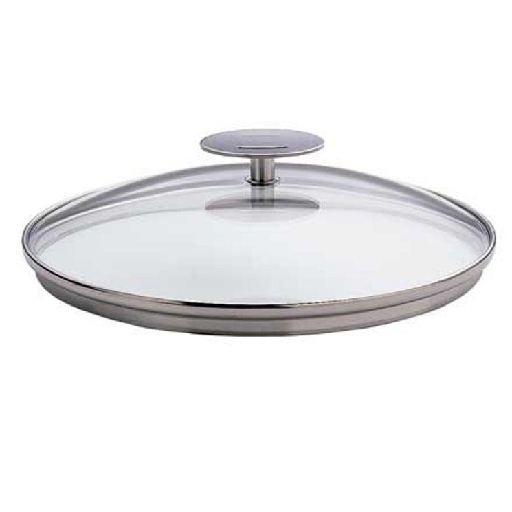 Couvercle en verre 24 cm Platine - Cristel