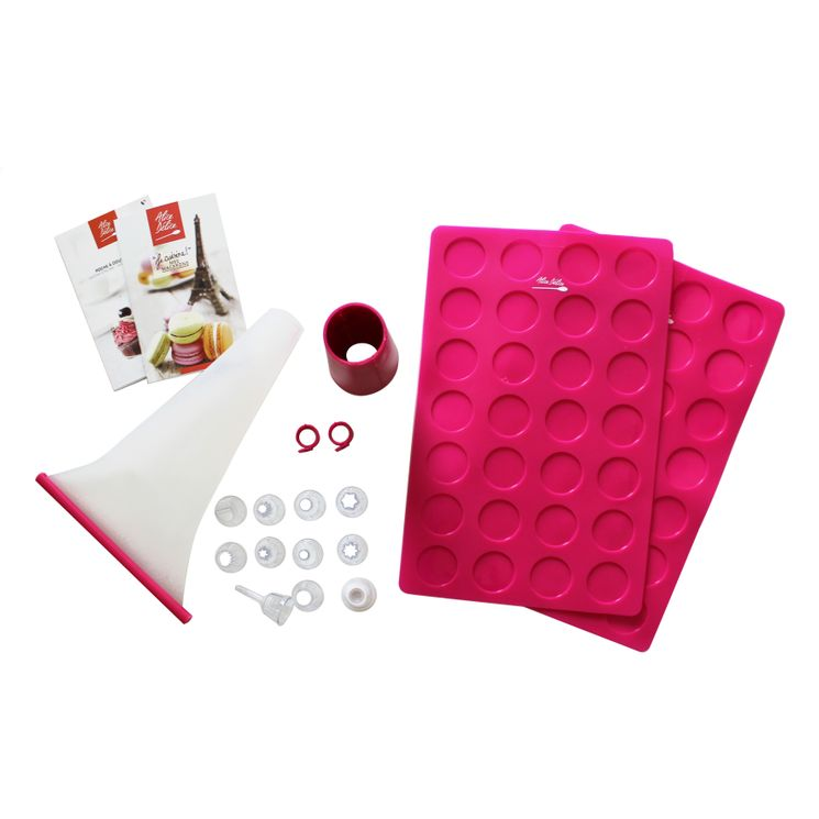 KIT MACARONS COULEUR FRAMBOISE - ALICE DELICE