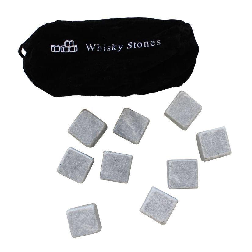 9 pierres à whisky + étui - Zodio