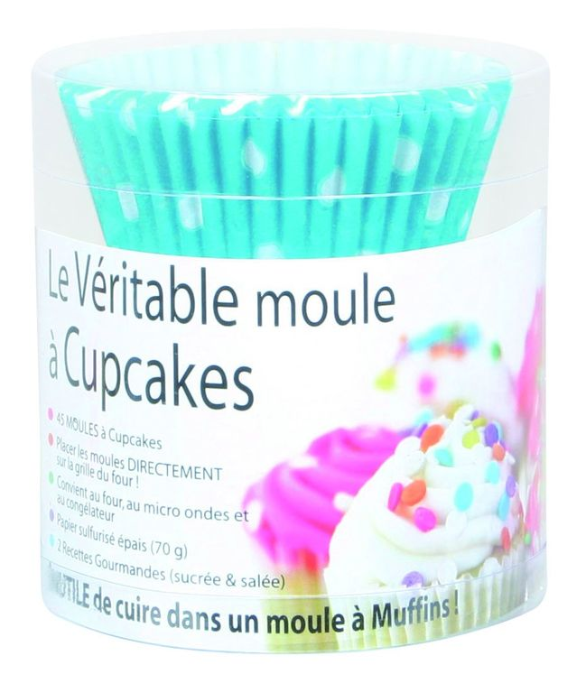 45 CAISSETTES TURQUOISE A POIS - CHEVALIER DIFFUSION