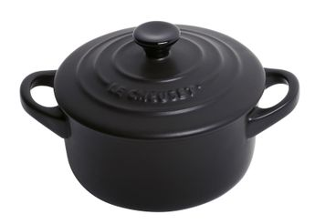 Achat en ligne Mini-cocotte céramique ronde noir 200ML - Le Creuset