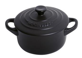 Mini-cocotte ronde noir 10 cm - Le Creuset