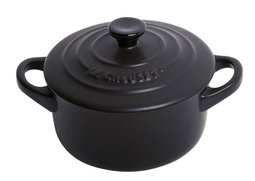 Mini-cocotte céramique ronde noir 200ML - Le Creuset